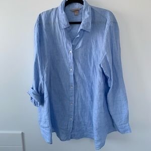 H&M+ Linen work shirt